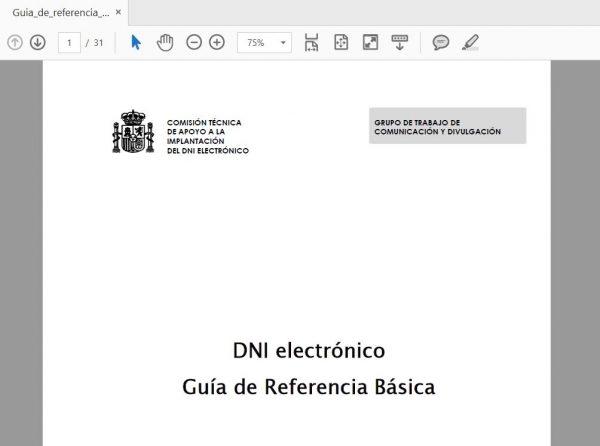 Guía de referencia DNI electrónico